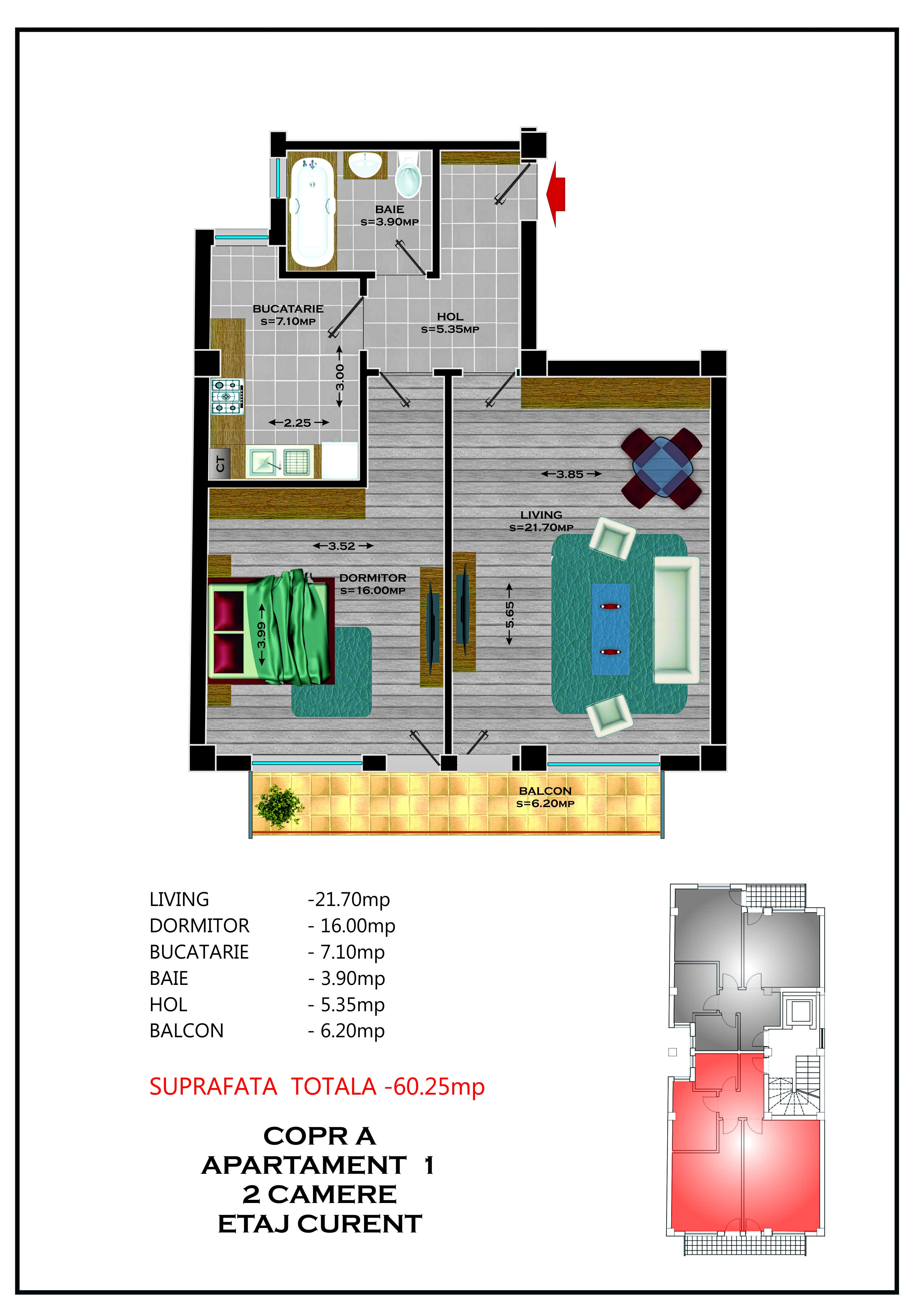 Corp A - Apartament 01 / 03 / 05 / 07