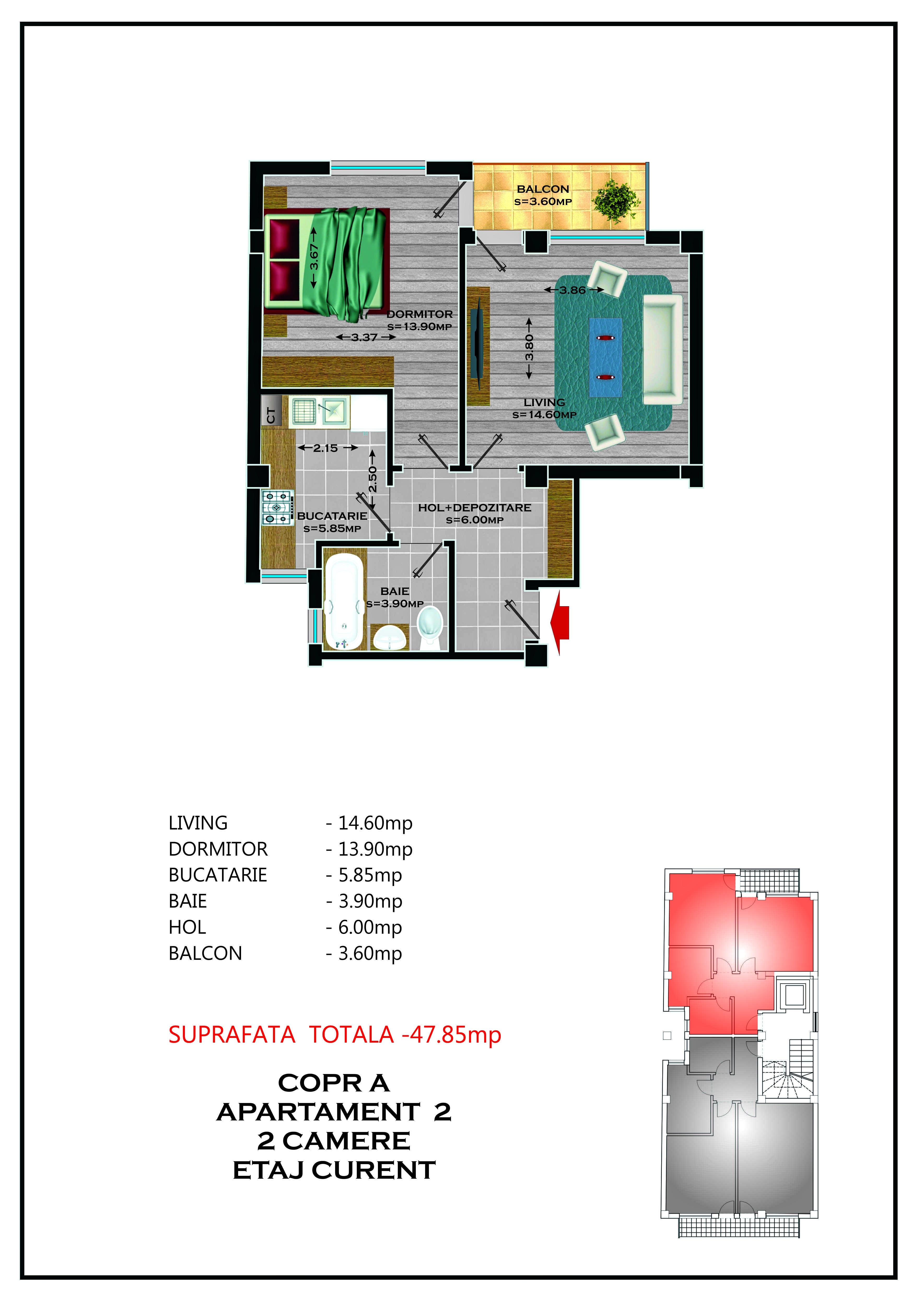 Corp A - Apartament 02 / 04 / 06 / 08