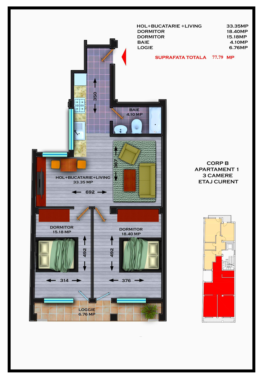 Corp B - Apartament 01 / 03 / 05 / 07