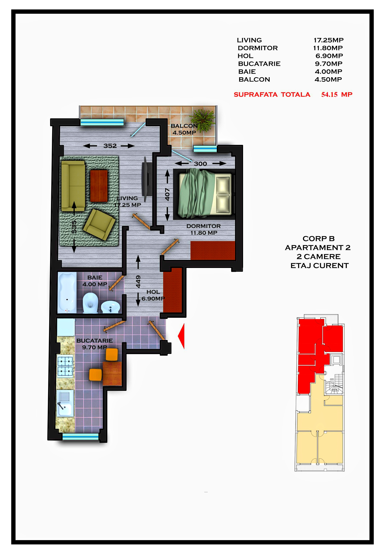 Corp B - Apartament 02 / 04 / 06 / 08